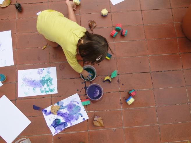 pintamos con hojas II
