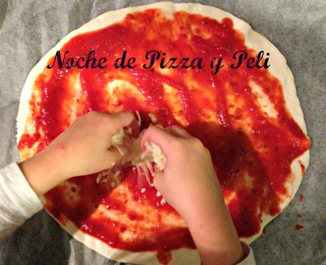 pizza y peli text